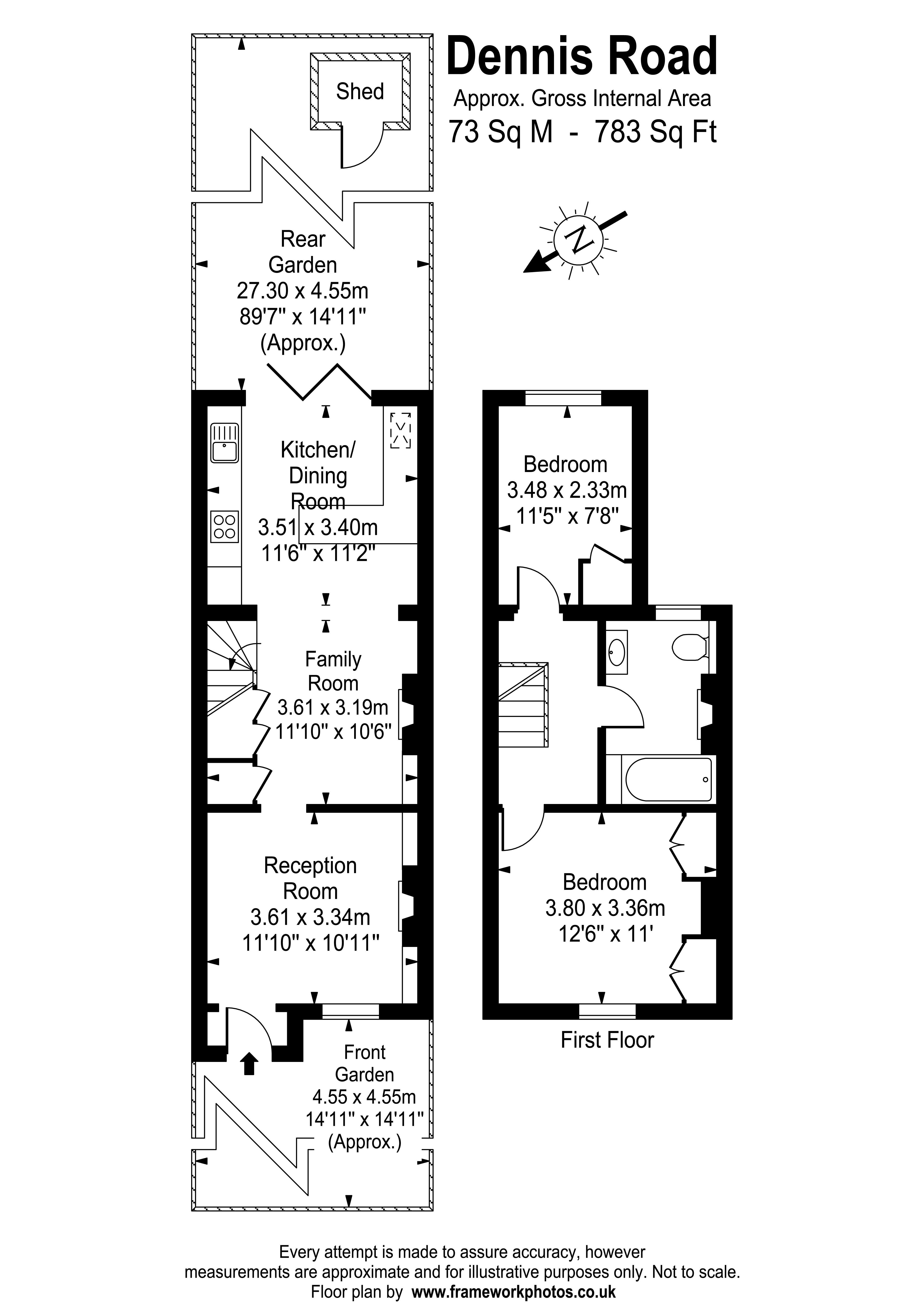 Floorplans For Dennis Road, East Molesey