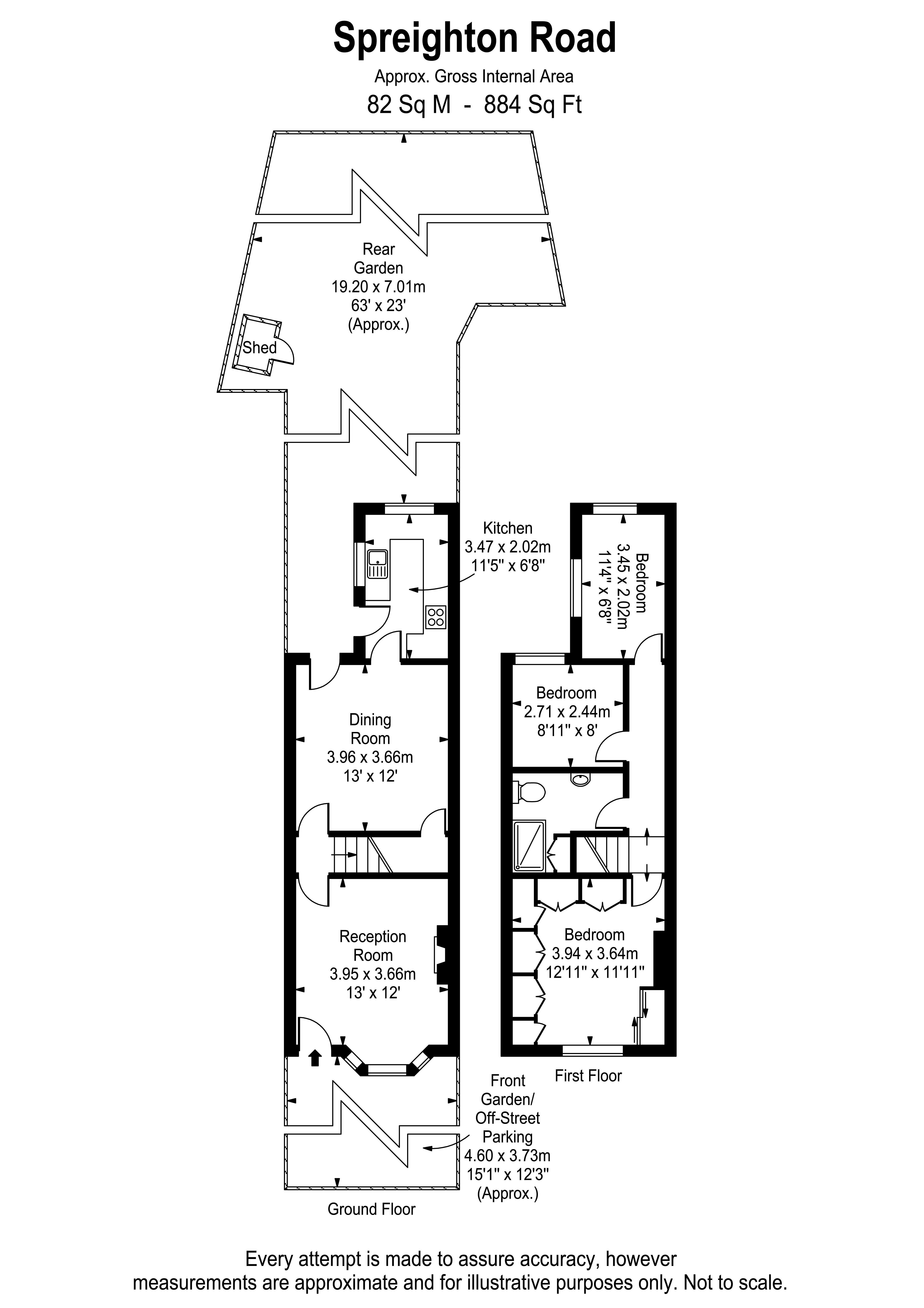 Floorplans For Spreighton Road, West Molesey