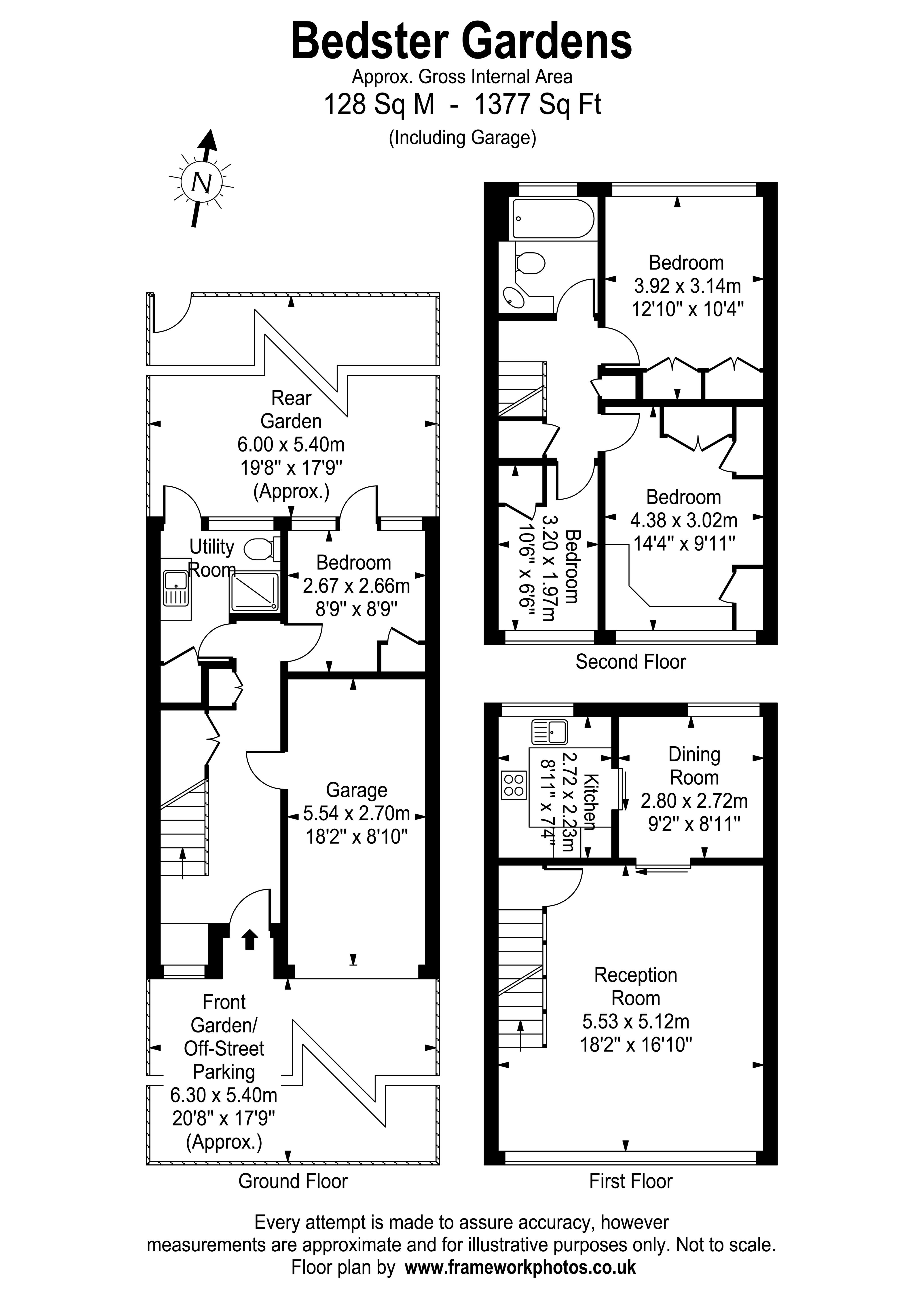 Floorplans For Bedster Gardens, West Molesey