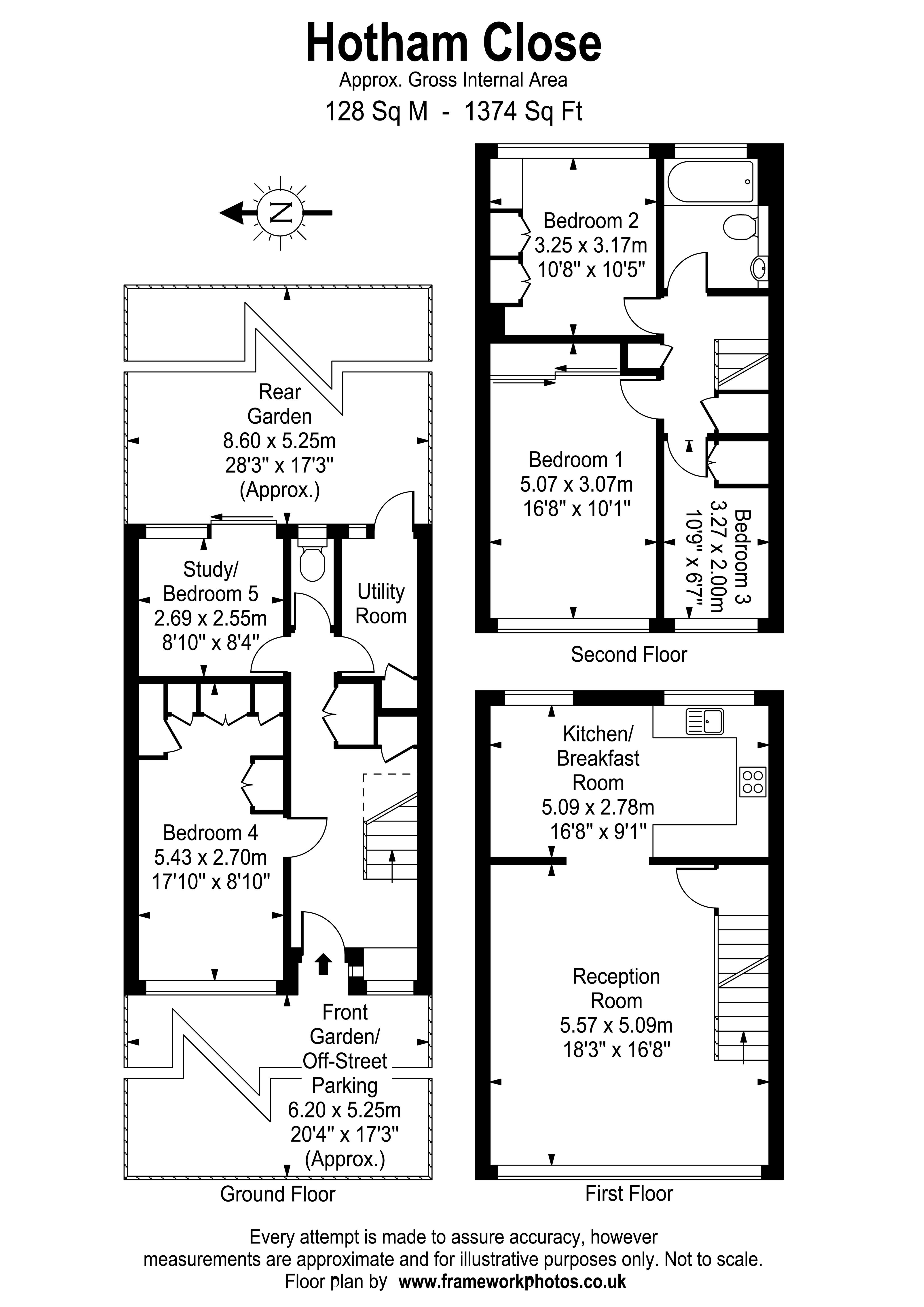 Floorplans For Hotham Close, Hurst Park, West Molesey