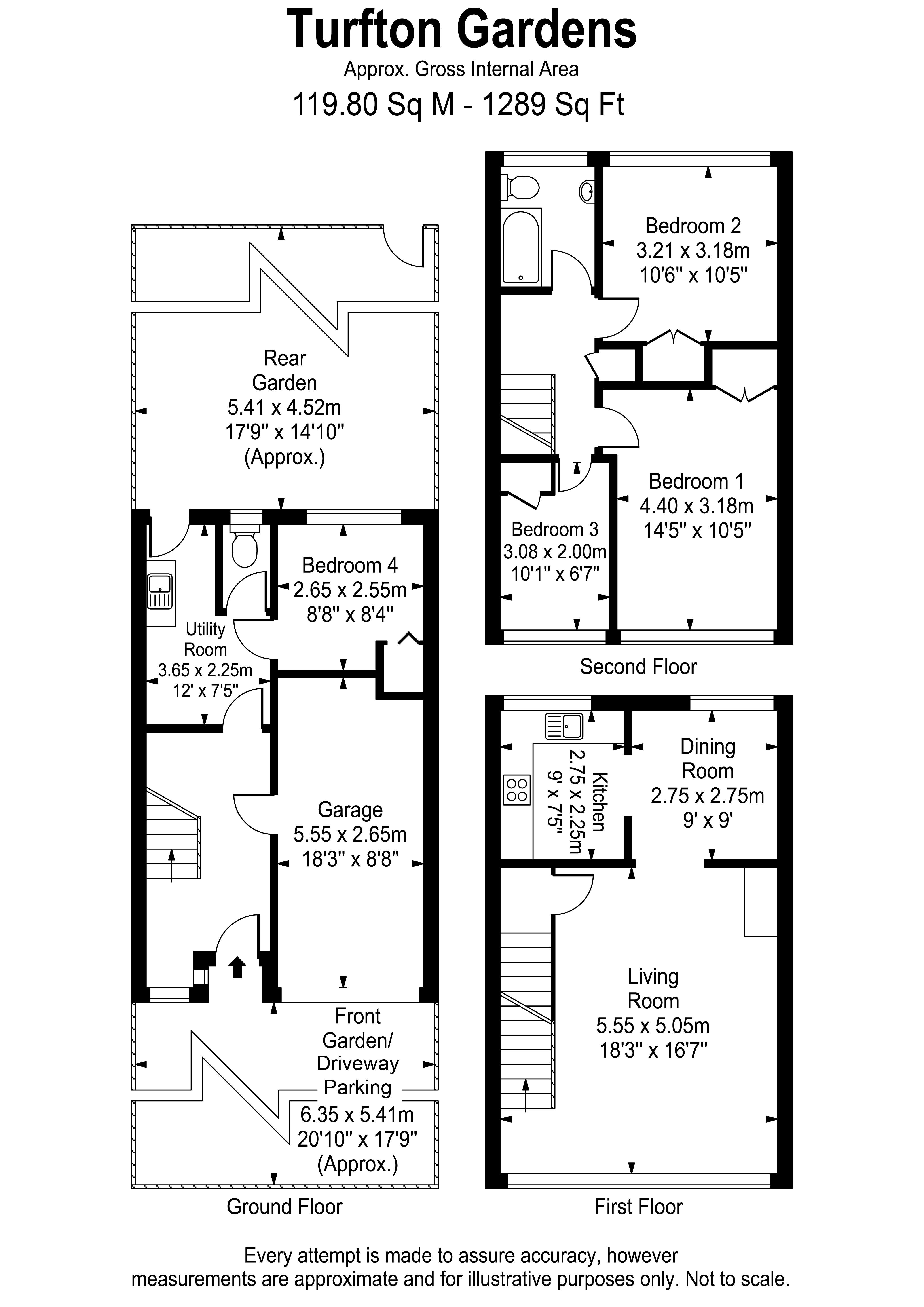 Floorplans For Tufton Gardens, West Molesey