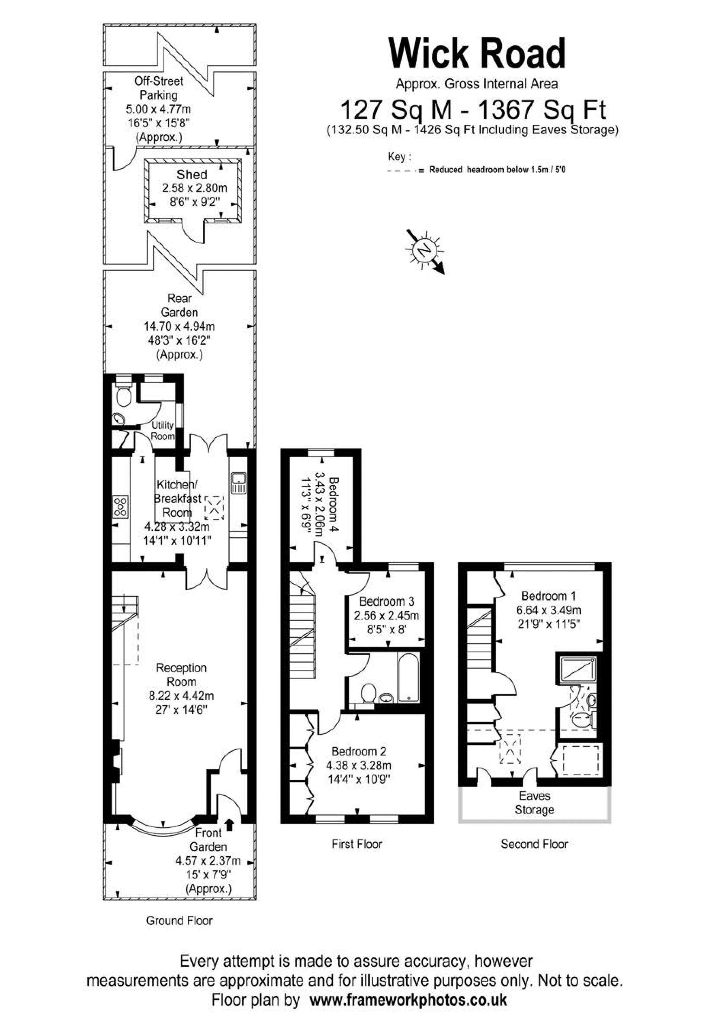 Floorplans For Wick Road, Teddington