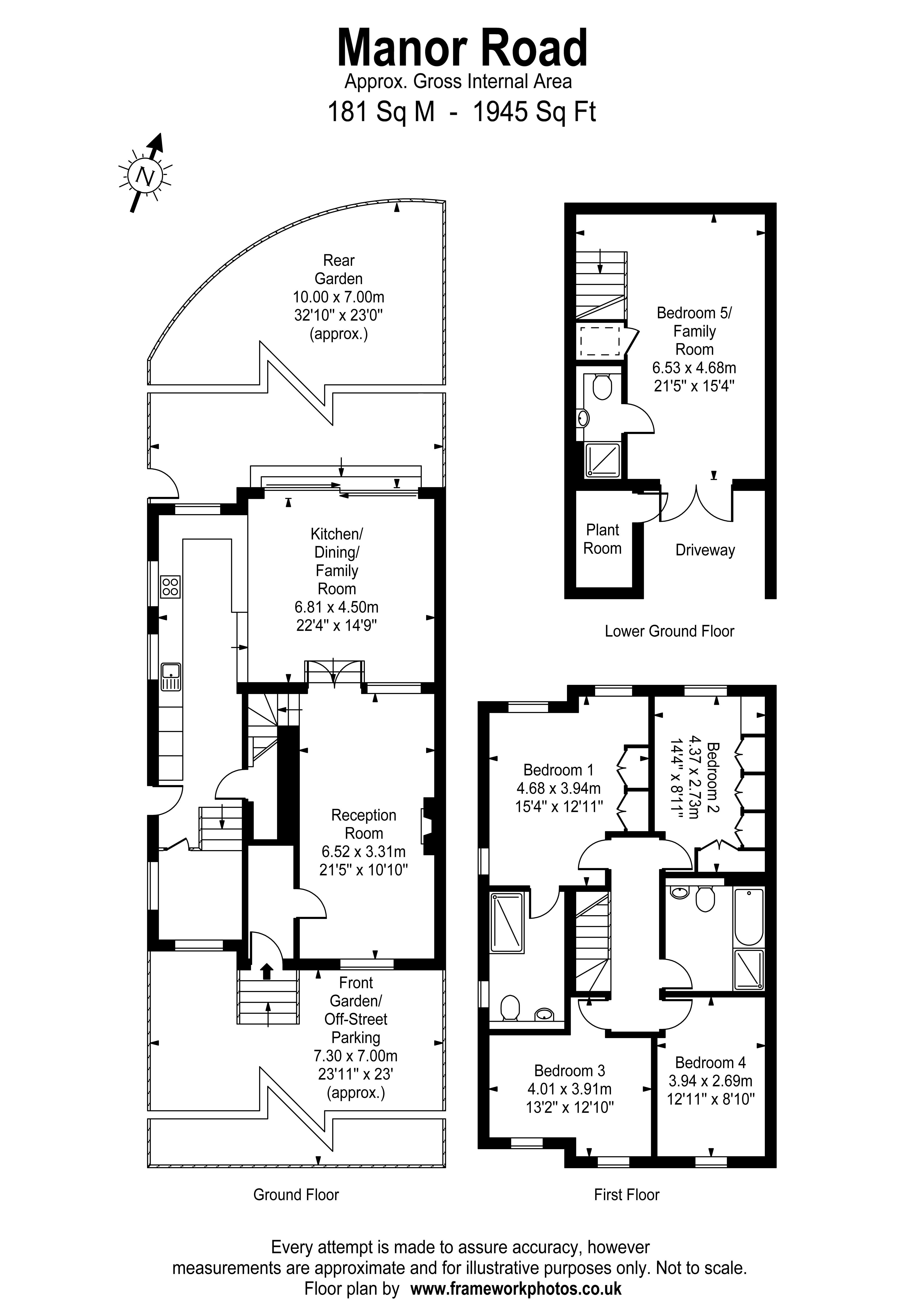 Floorplans For Manor Road, Teddington