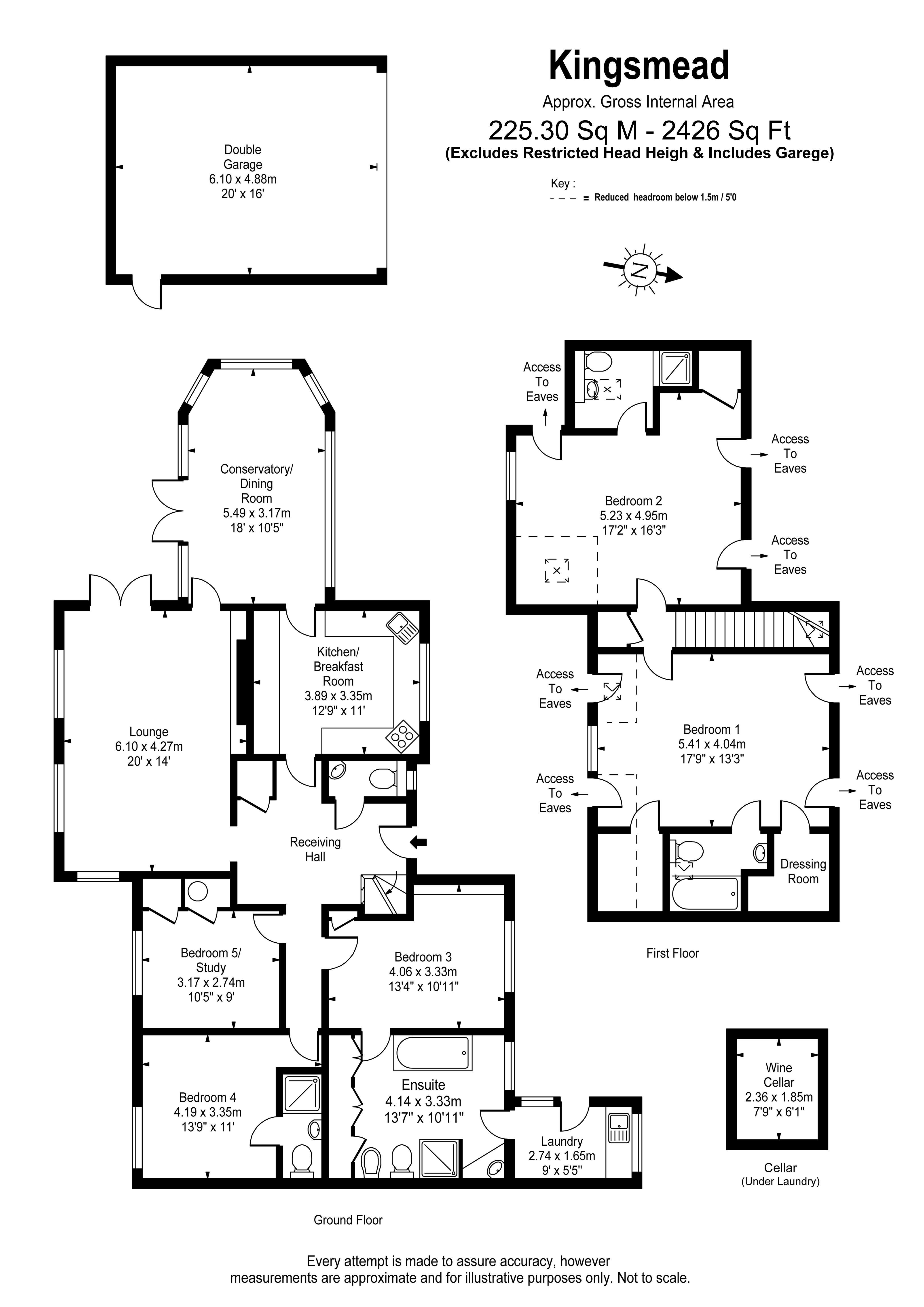 Floorplans For Ruxbury Road, Chertsey