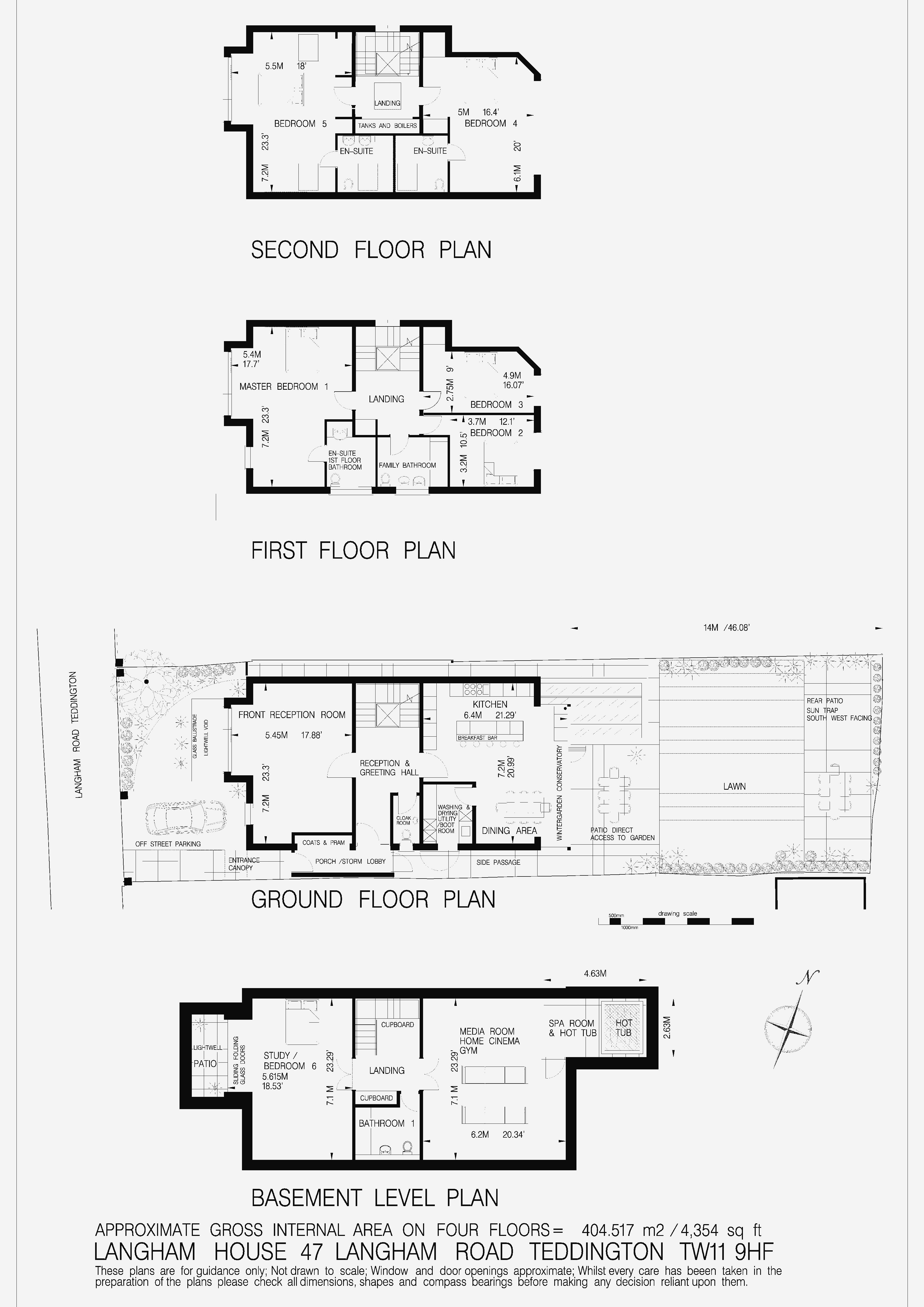 Floorplans For Langham Road, Teddington