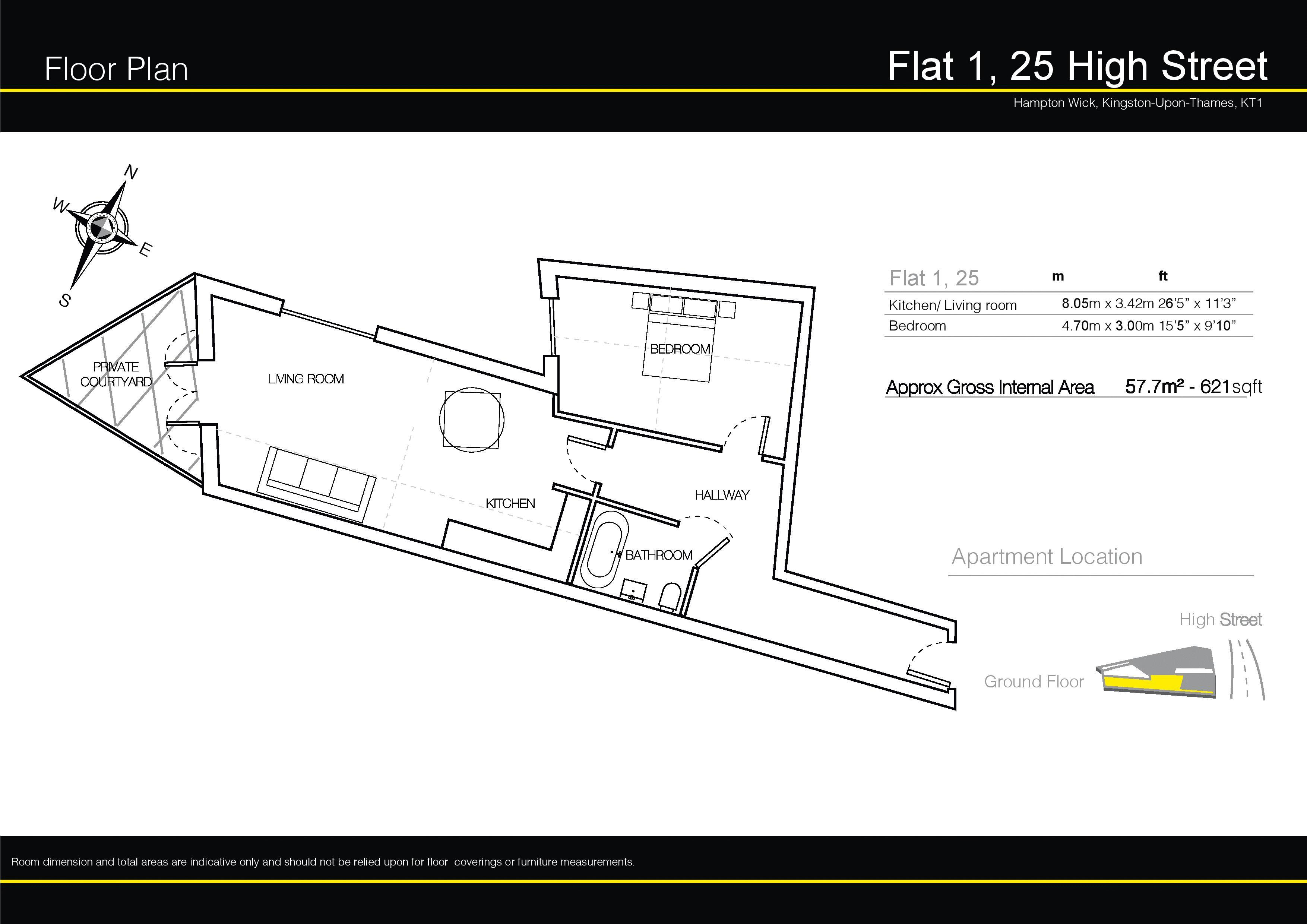 Floorplans For High Street, Hampton Wick