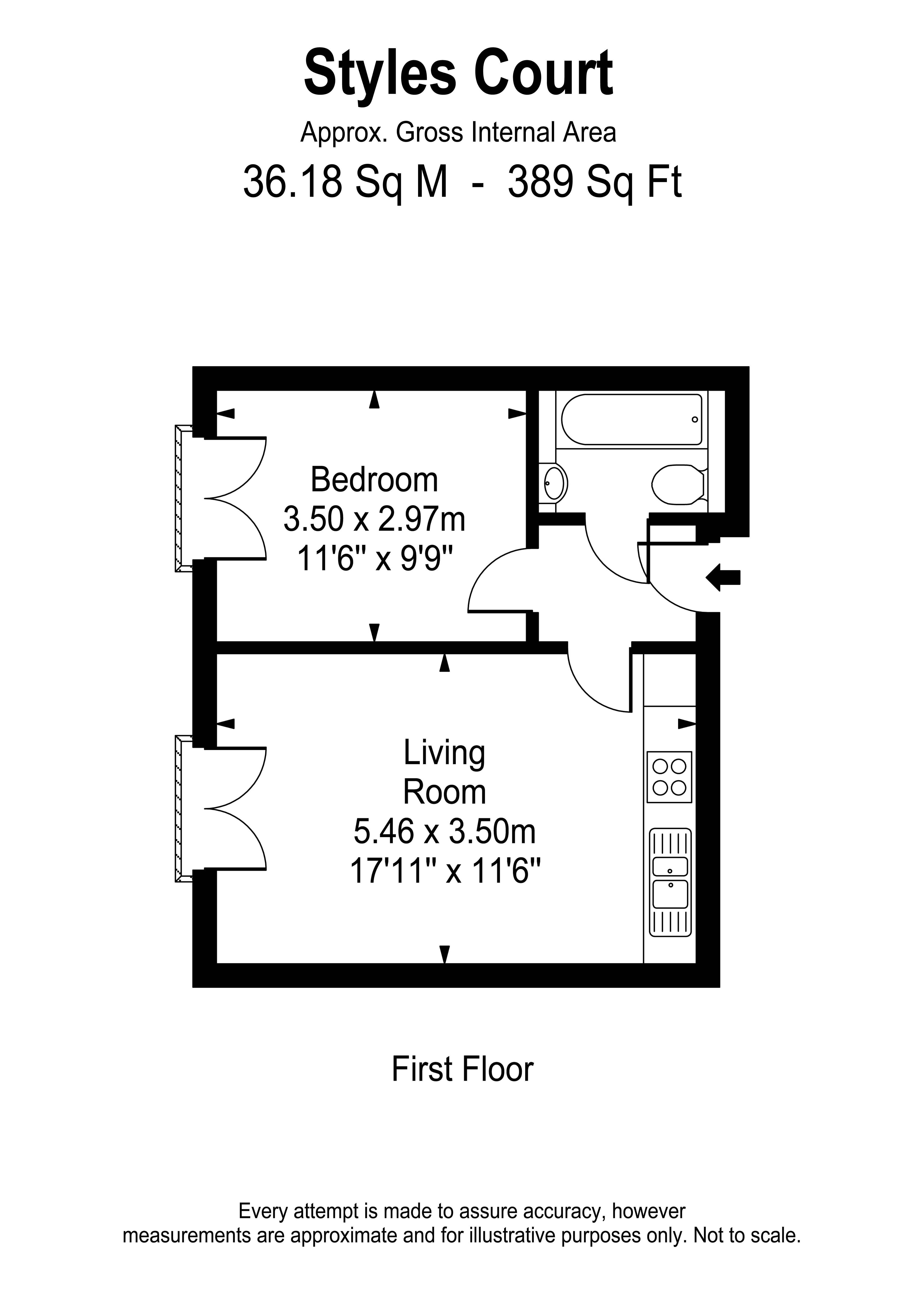 Floorplans For Styles Court, Walton Road, East Molesey
