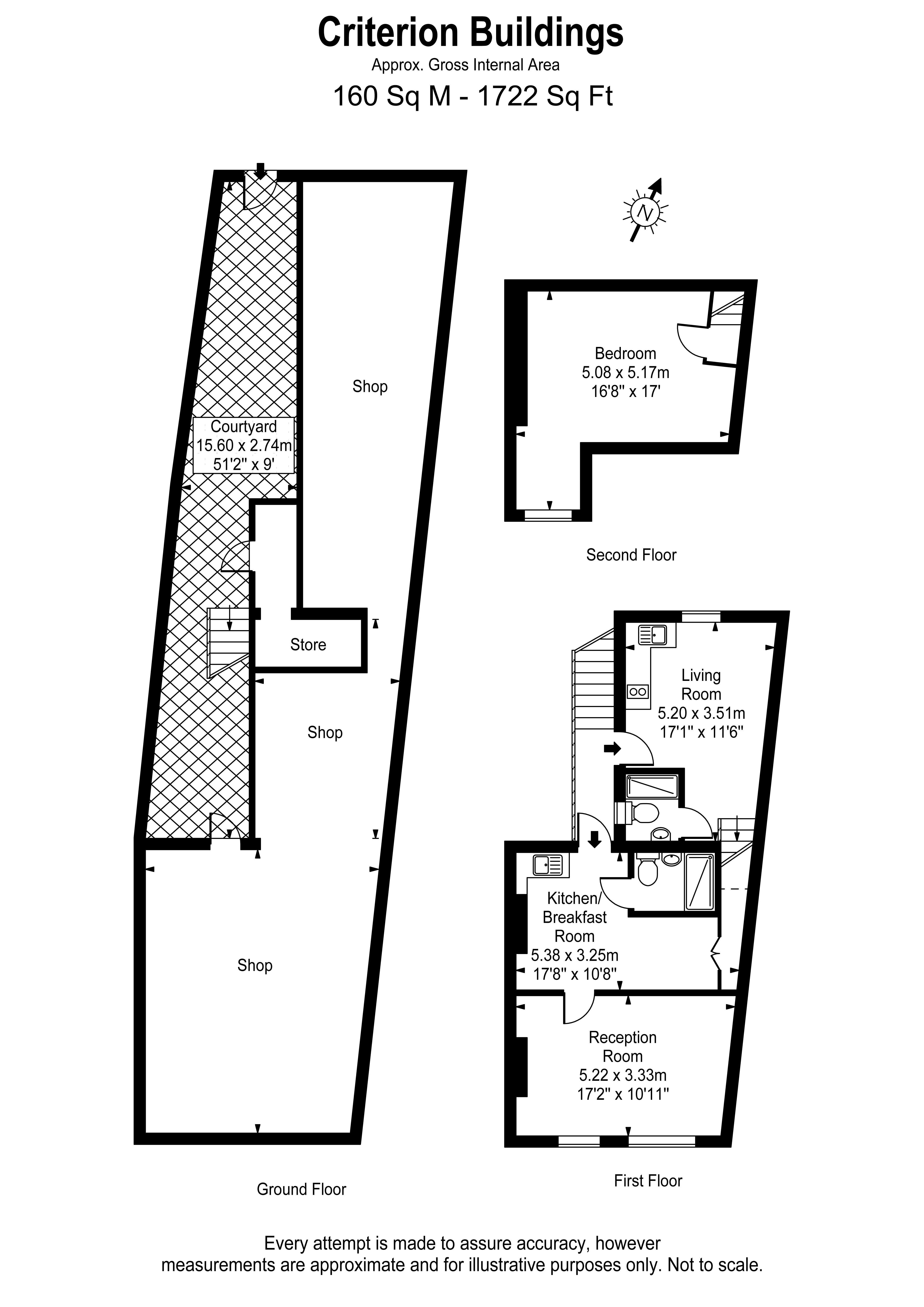 Floorplans For Criterion Buildings,  Portsmouth Road, Thames Ditton