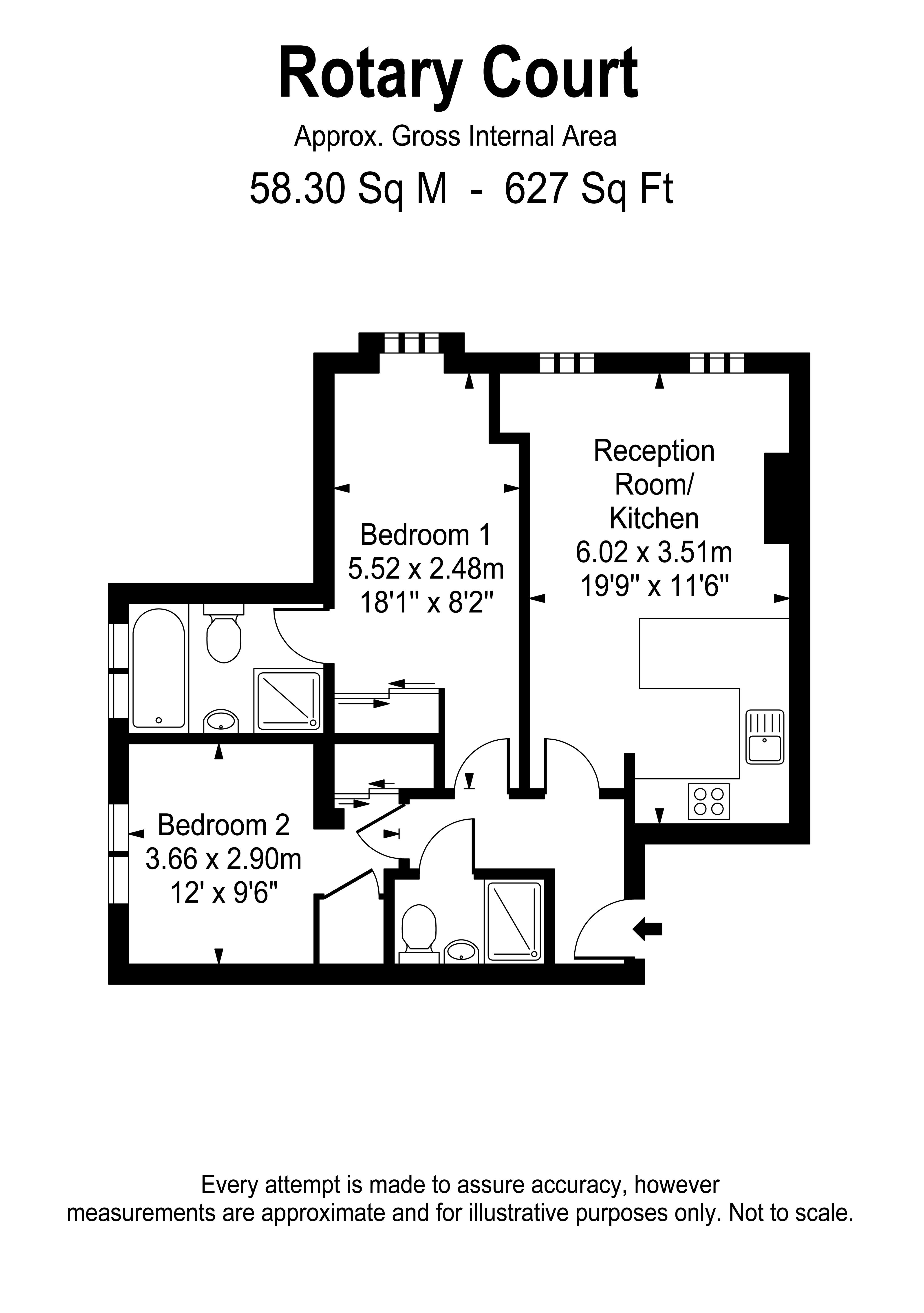 Floorplans For Hampton Court Road, East Molesey