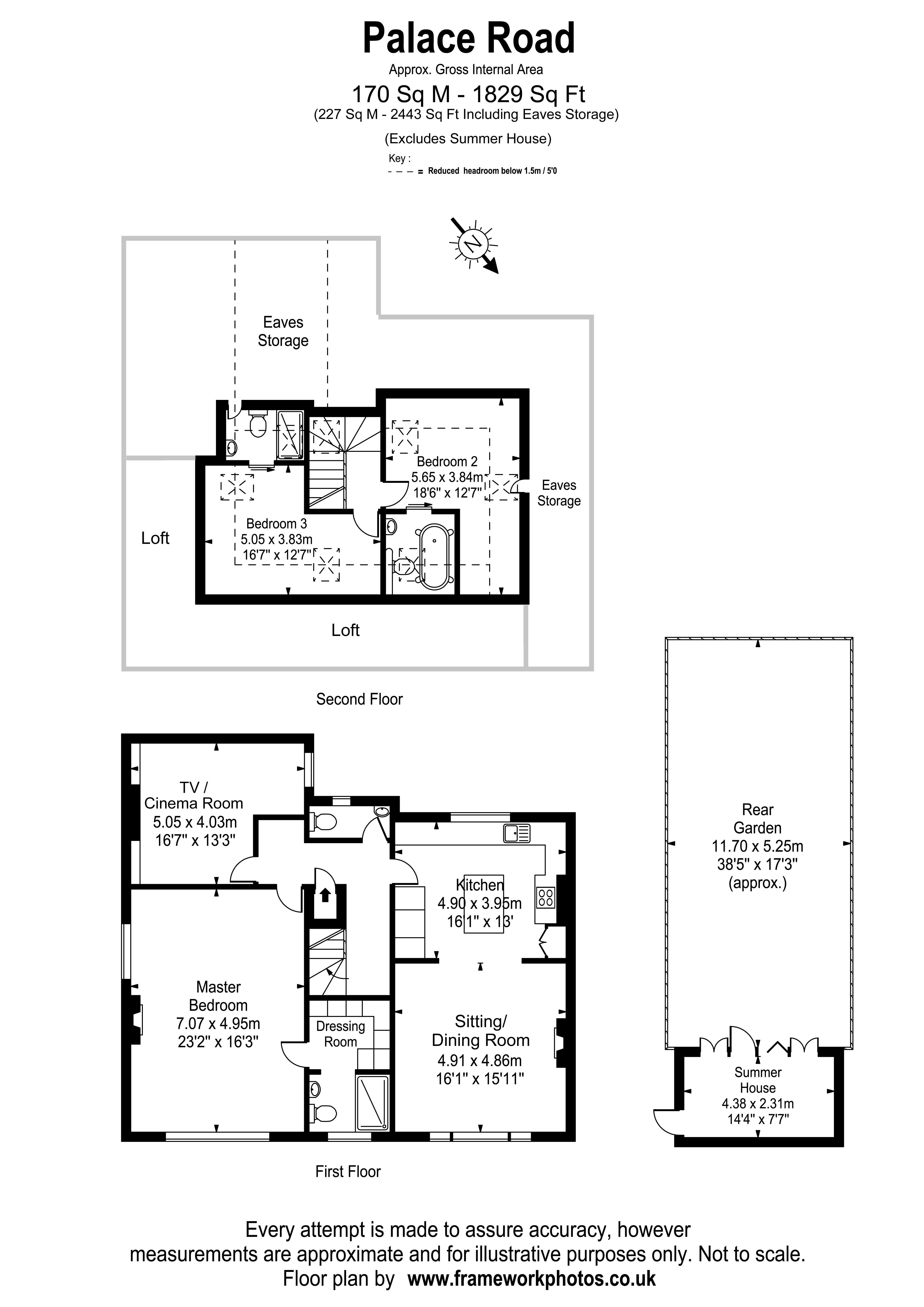 Floorplans For Palace Road, East Molesey