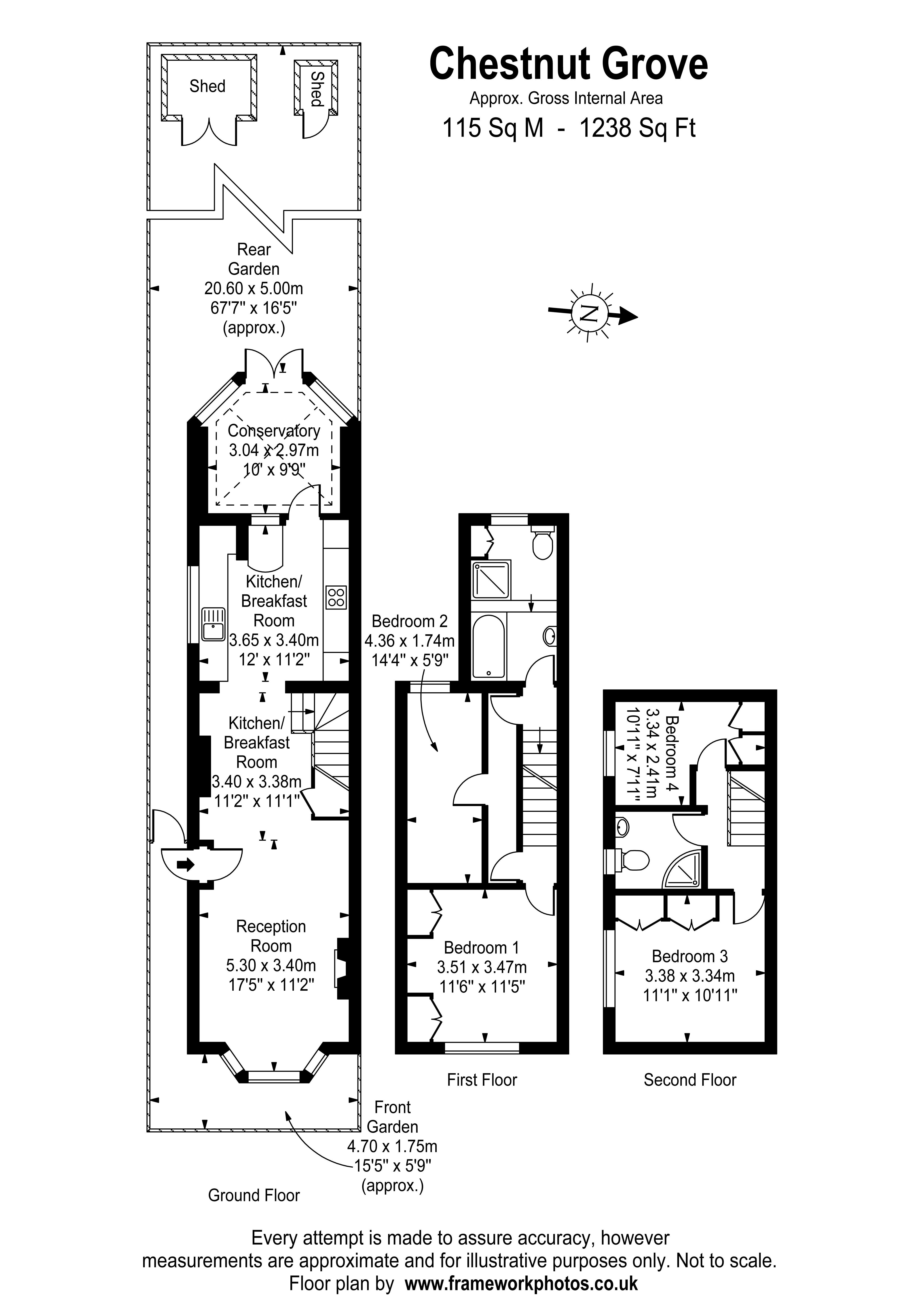 Floorplans For Chestnut Grove, Staines-Upon-Thames