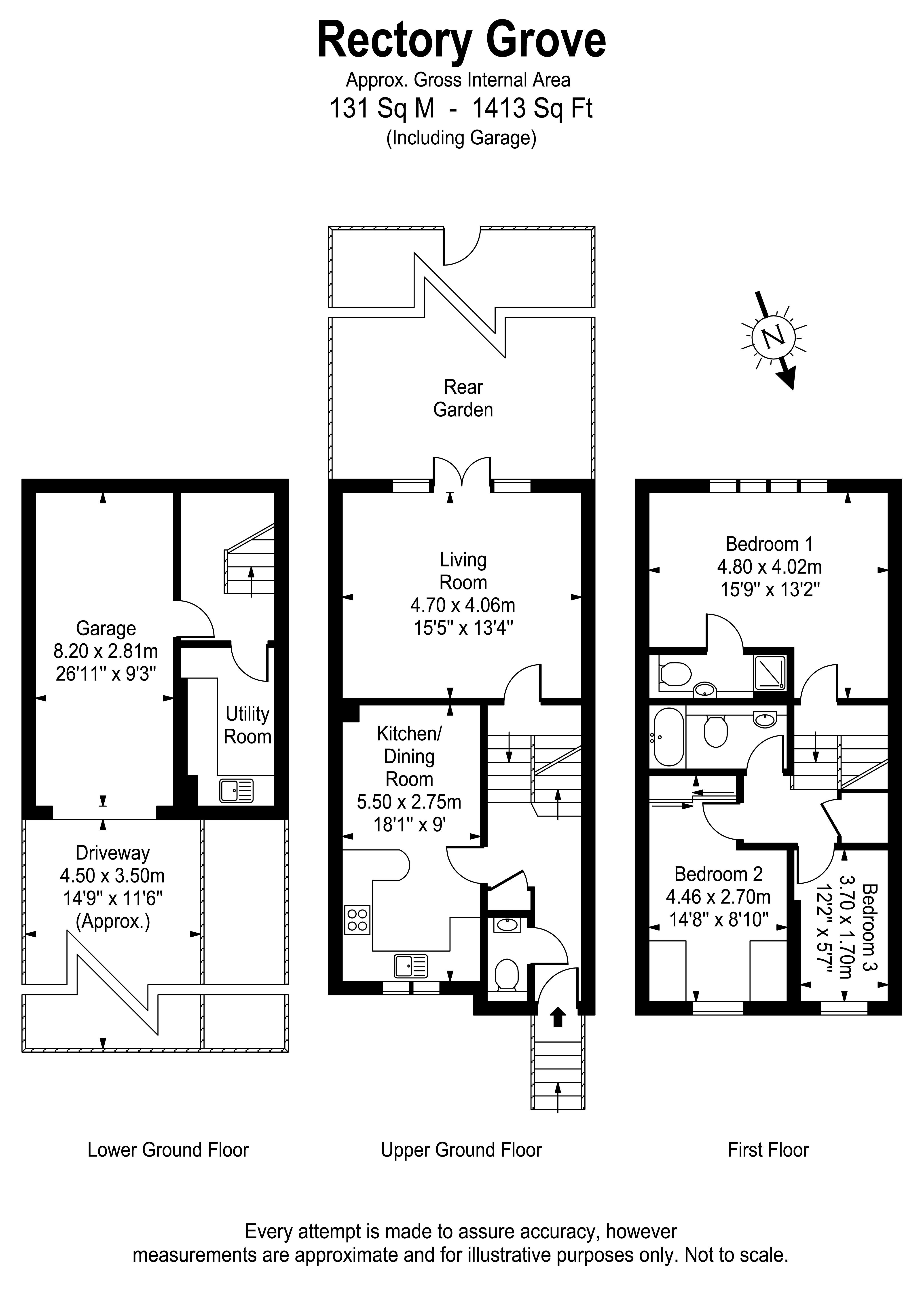 Floorplans For Rectory Grove, Hampton