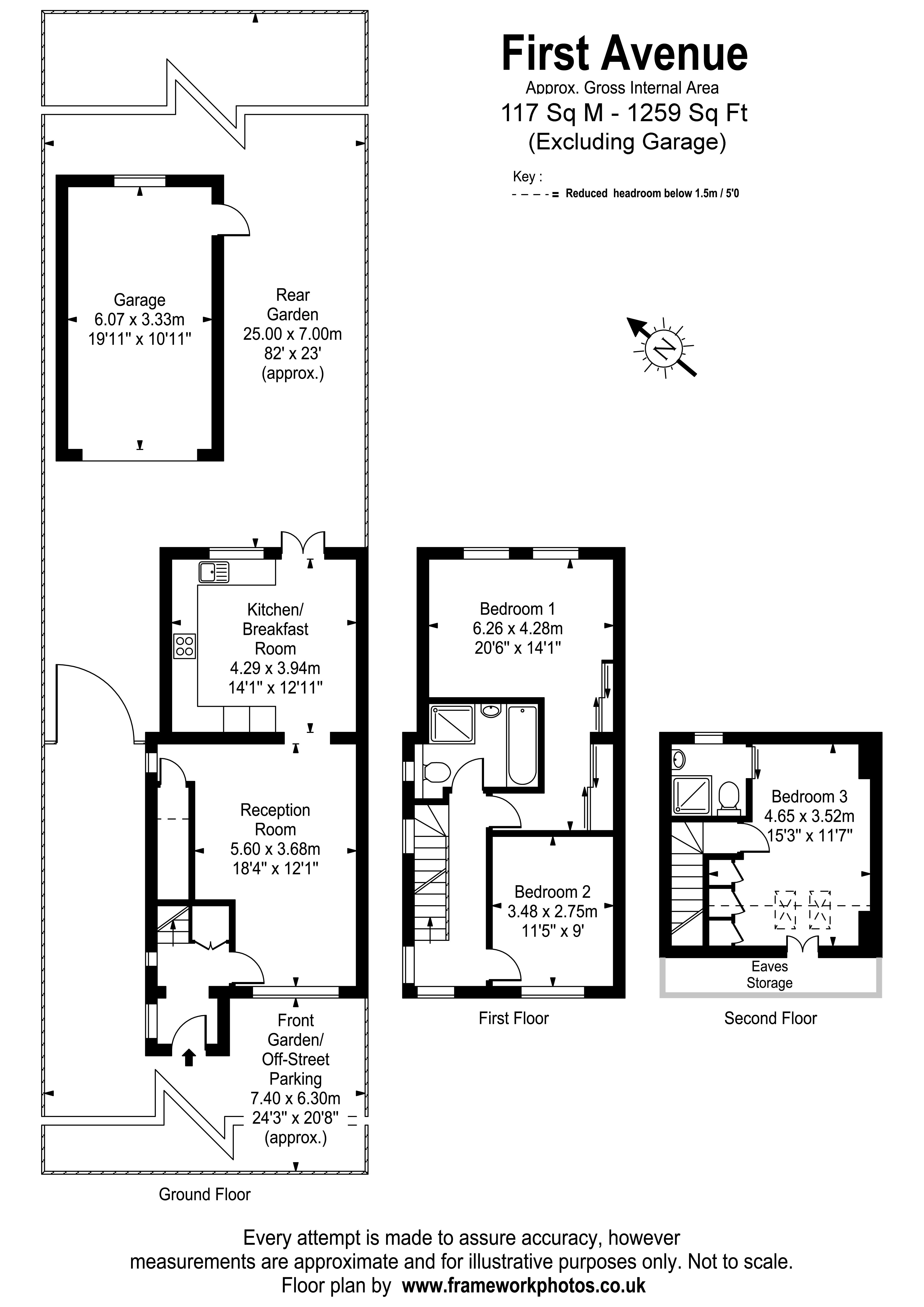 Floorplans For First Avenue, West Molesey