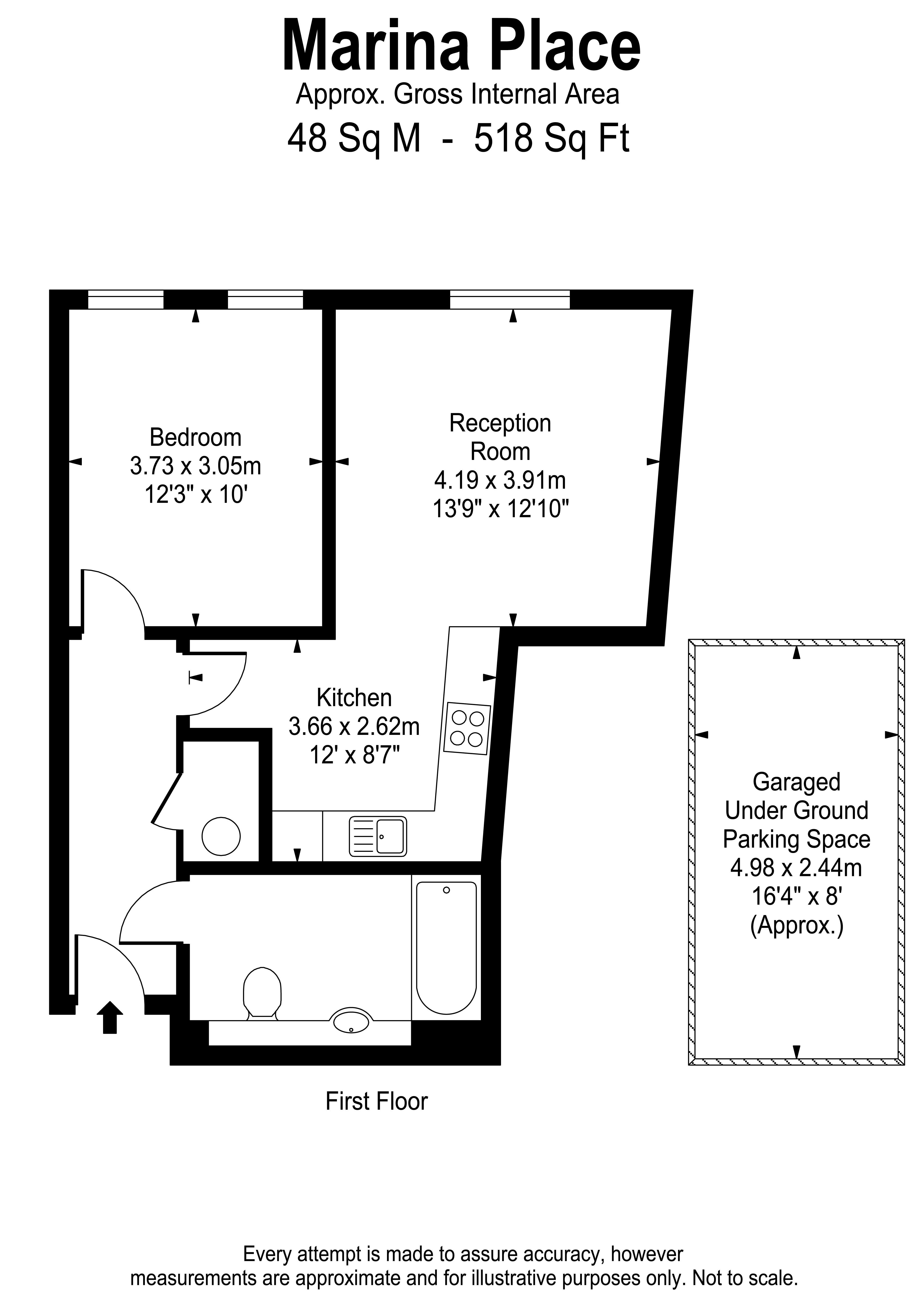 Floorplans For Marina Place, Kingston Upon Thames