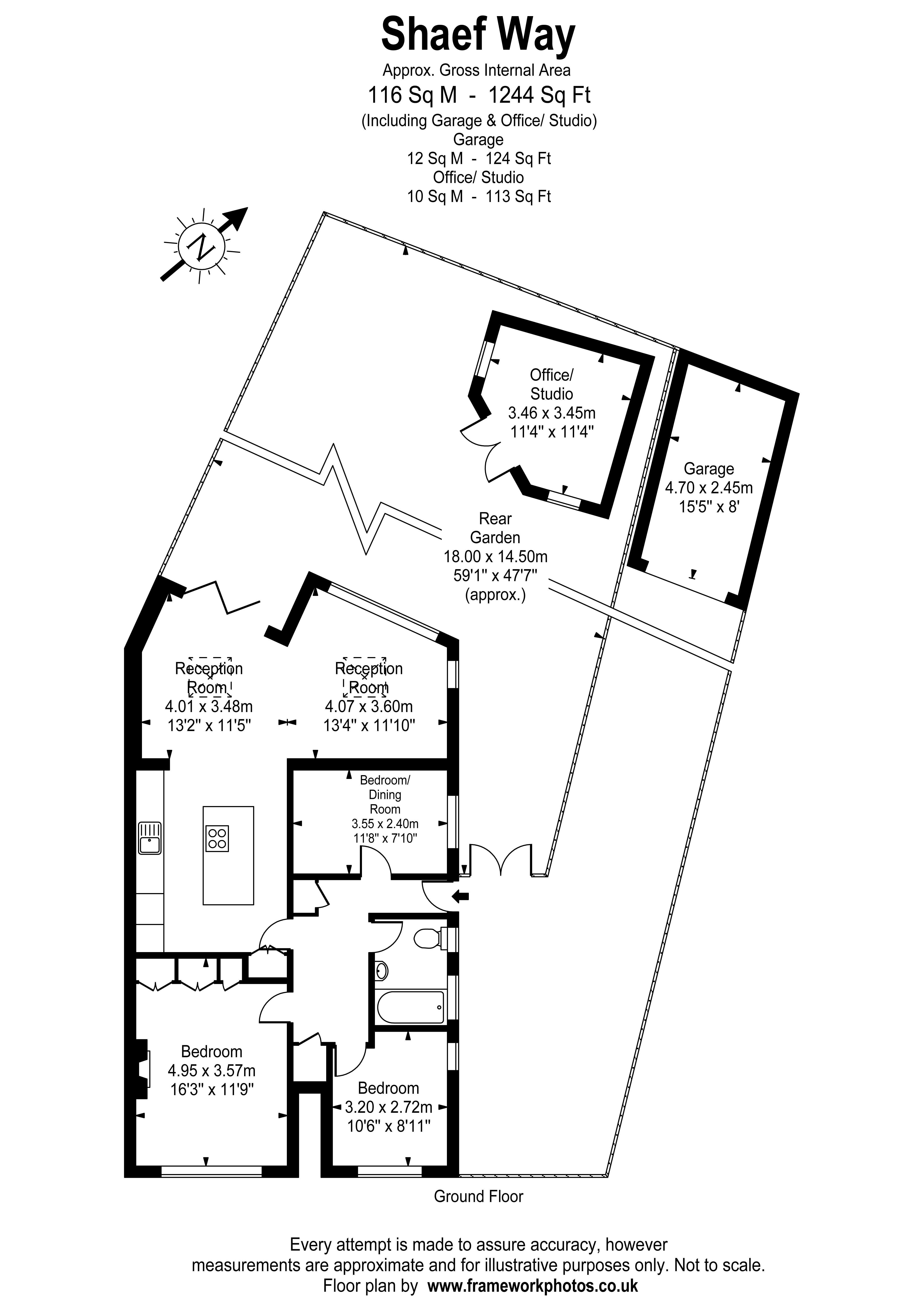 Floorplans For Shaef Way, Teddington