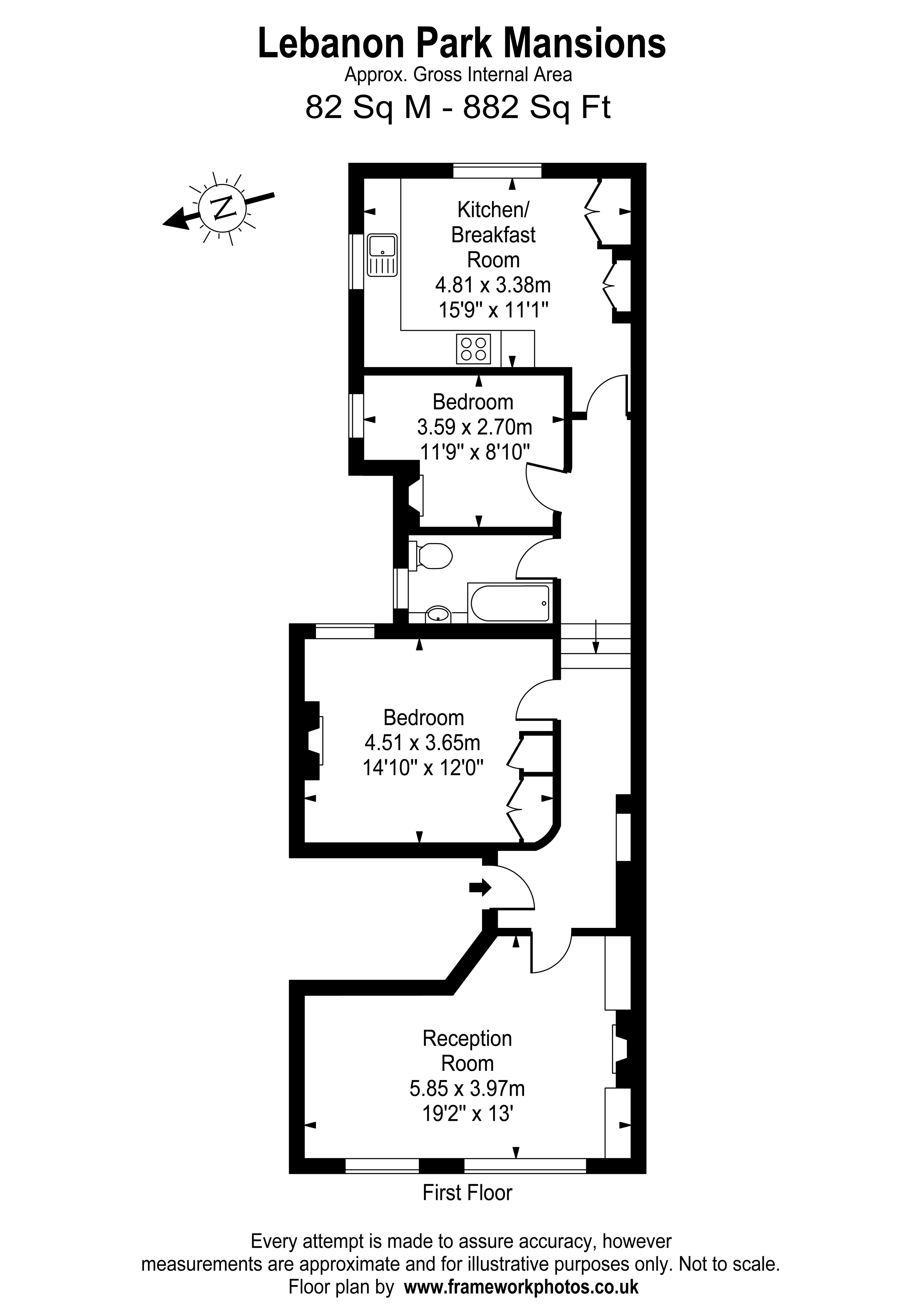 Floorplans For Lebanon Park Mansions, Twickenham