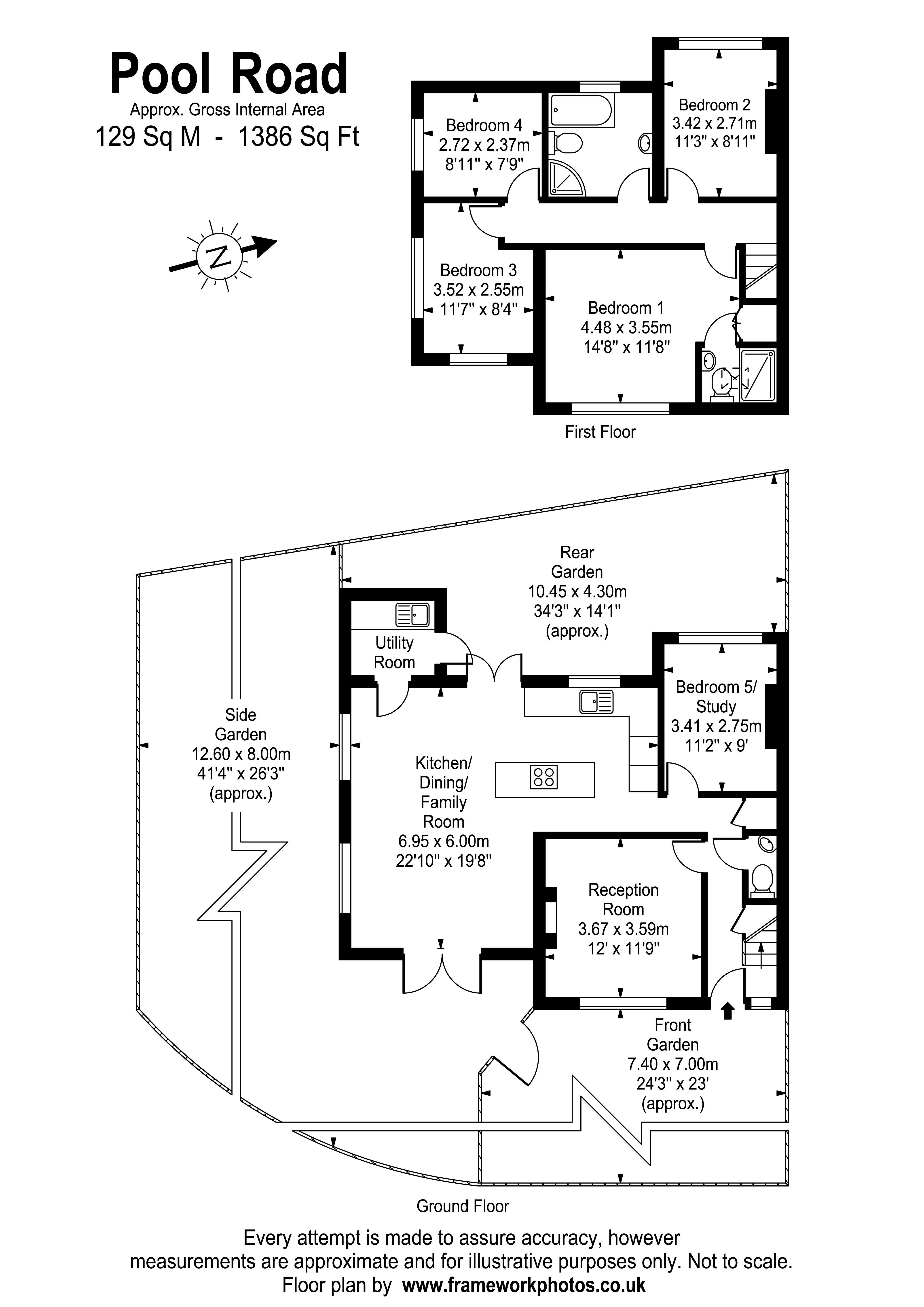 Floorplans For Pool Road, West Molesey