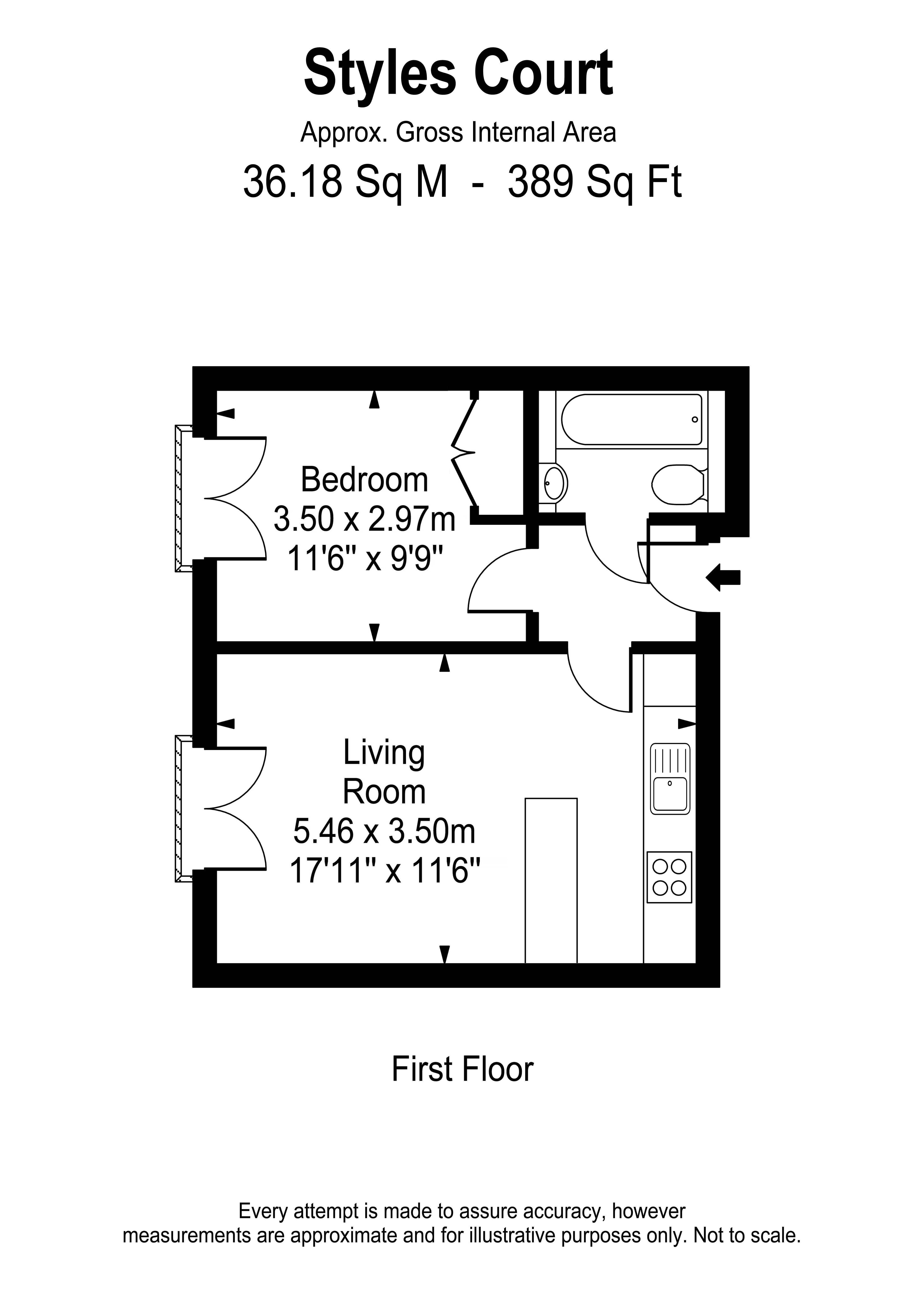 Floorplans For Styles Court, East Molesey