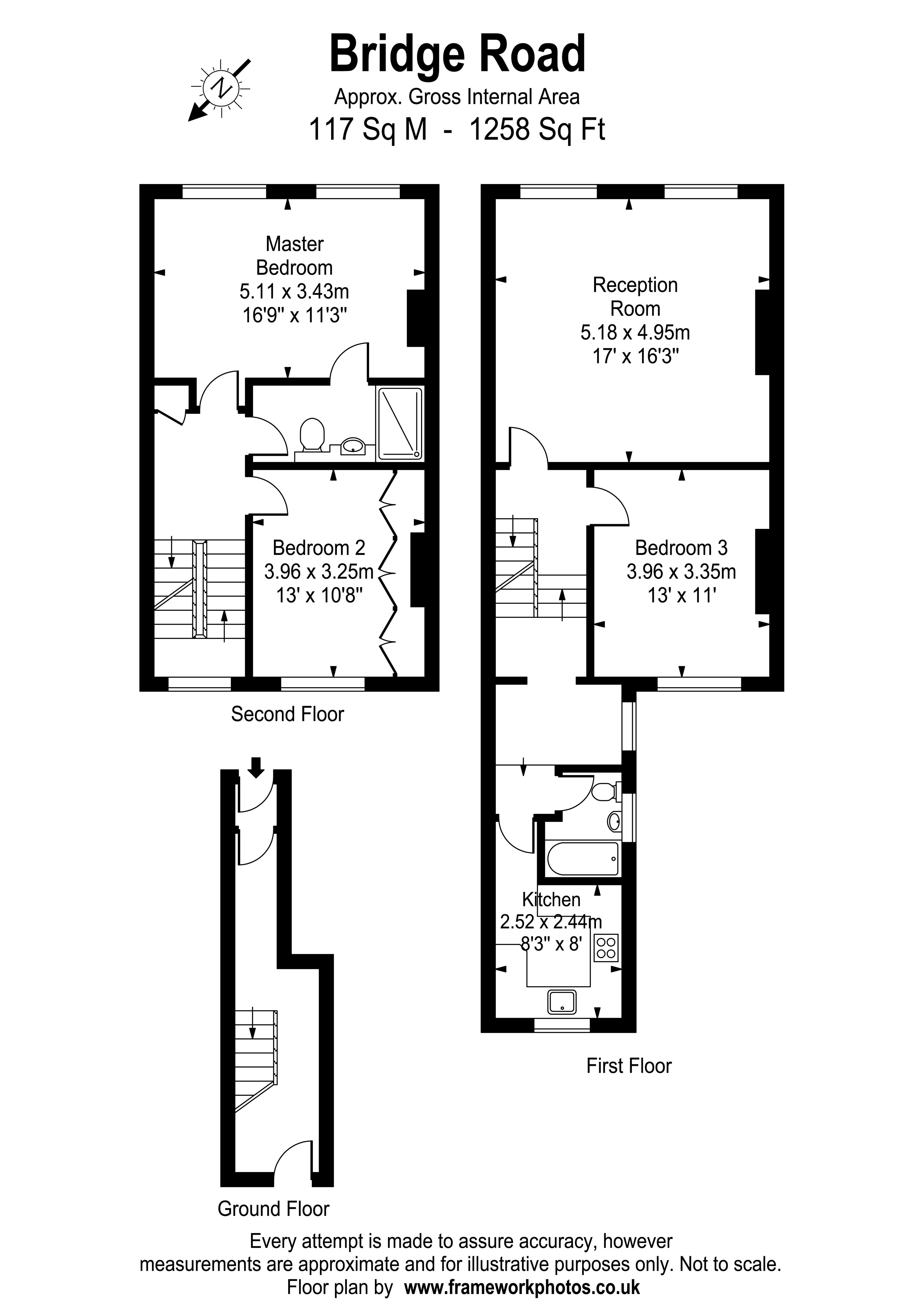 Floorplans For Bridge Road, Hampton Court / East Molesey